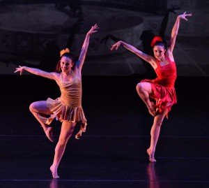 Nicole Clarke and Jennie Wolk in Bongo Concerto